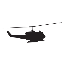 Silueta de helicoptero militar