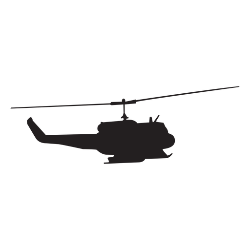 Military helicopter silhouette Transparent PNG