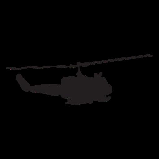 Silueta de helicoptero militar Transparent PNG