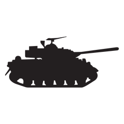 Military tank silhouette