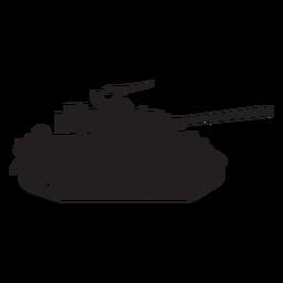 Silhueta de tanque militar