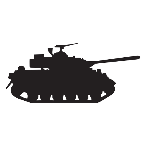 Military tank silhouette Transparent PNG