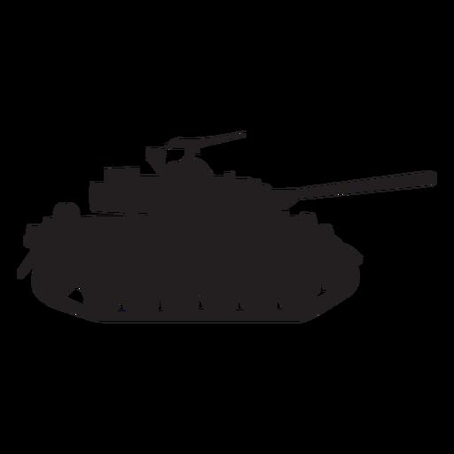 Military tank silhouette