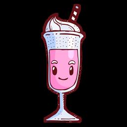 Desenhos animados de personagem de milk-shake