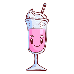 Milk shake character cartoon