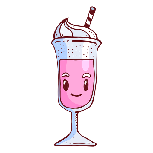 Milk shake character cartoon Transparent PNG