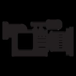 Ícone plana de câmera de notícias móveis