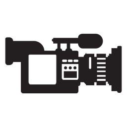 Mobile news camera flat icon
