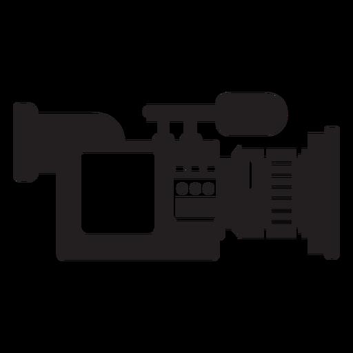 Ícone plana de câmera de notícias móveis Transparent PNG
