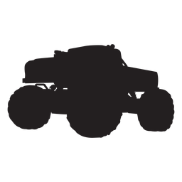 Monster truck bigfoot silhouette