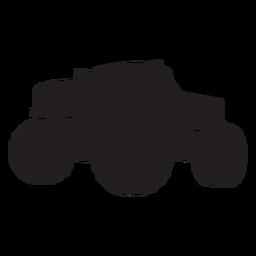 Silhueta de bigfoot de caminhão de monstro