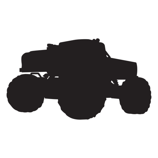 Monster truck bigfoot silhouette Transparent PNG