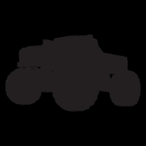 Monster truck bigfoot silhouette Transparent PNG
