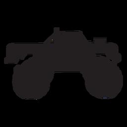Silhueta de caminhão de monstro