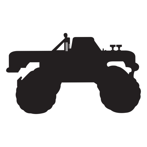 Monster truck silhouette Transparent PNG