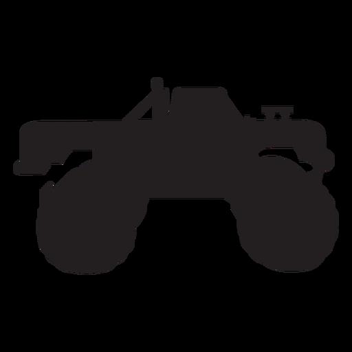Silueta de camión monstruo Transparent PNG