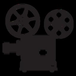 Icono plano de proyector de películas
