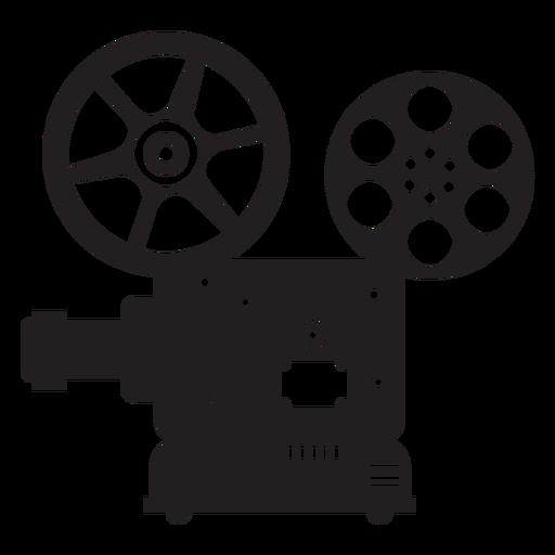Ícone plana de projetor de filme Transparent PNG