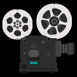 Ilustración proyector de películas