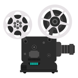 Movie projector illustration