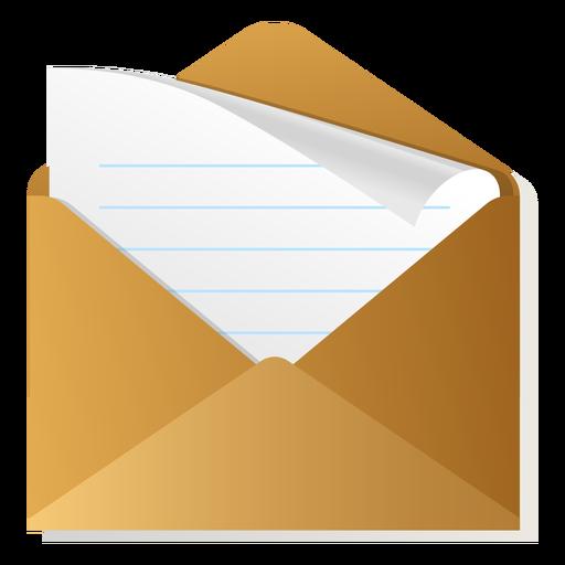 Icono de sobre 3d abierto Transparent PNG