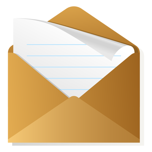 Open envelope 3d icon - Transparent PNG & SVG vector