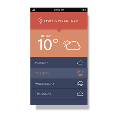 Orange weather service mobile interface