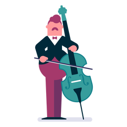 Orchestra cellist cartoon