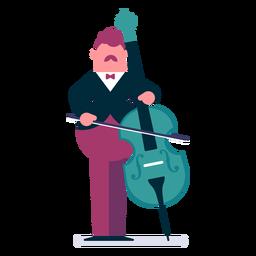 Orquesta violonchelista de dibujos animados.
