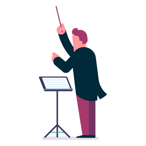 Orchestra conductor cartoon Transparent PNG
