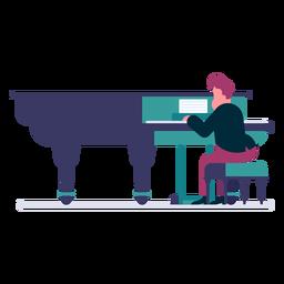 Desenho de pianista de orquestra