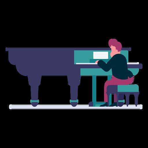 Orchestra pianist cartoon Transparent PNG