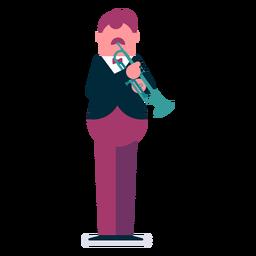 Orquesta de trompetista de dibujos animados