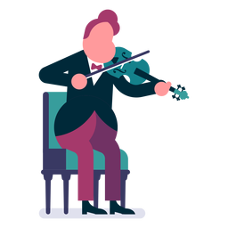Orchestra violinist cartoon