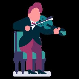 Orquesta violinista de dibujos animados.