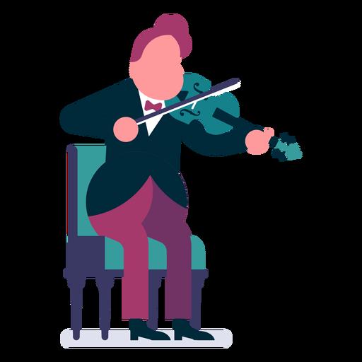 Desenho De Violinista De Orquestra Baixar Png Svg Transparente