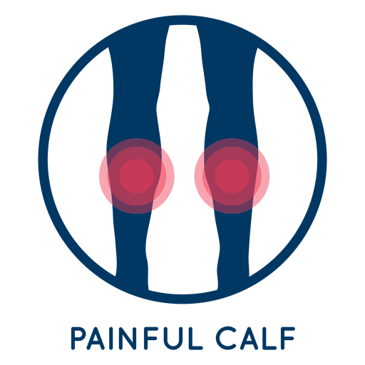 Painful calf icon Transparent PNG