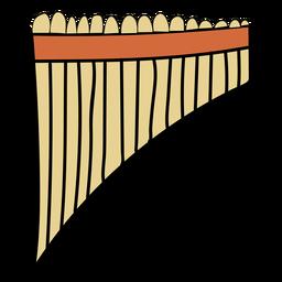 Flauta flauta instrumento musical doodle