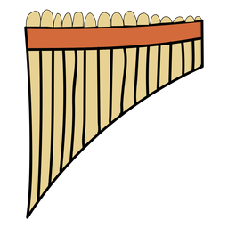 Pan flute musical instrument doodle