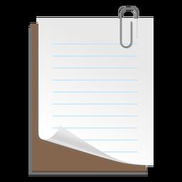 Ícone de folha de papel 3d