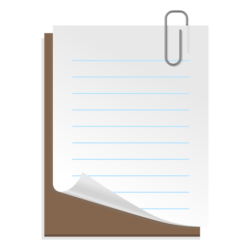 Ícone de folha de papel 3d Transparent PNG