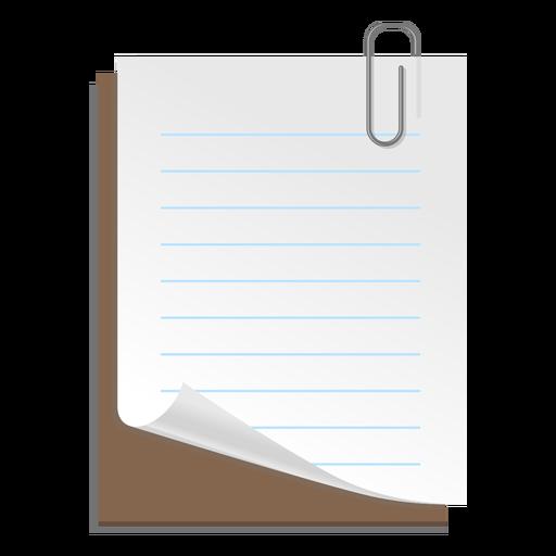 Icono 3d de la hoja de papel Transparent PNG