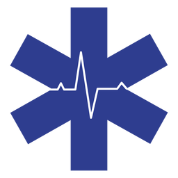 Logotipo del ritmo cardíaco paramédico
