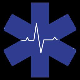Rettungssanitäter-Herzfrequenz-Logo
