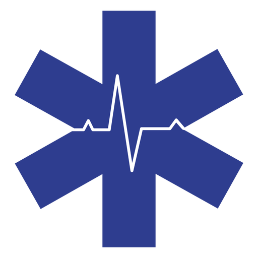 Paramedic heart rate logo Transparent PNG