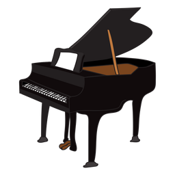 Doodle de instrumento musical de piano