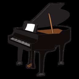Doodle de instrumentos musicales para piano.