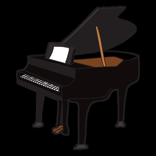 Doodle de instrumentos musicales para piano. Transparent PNG