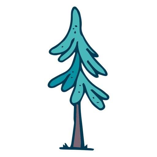 Pine tree cartoon Transparent PNG