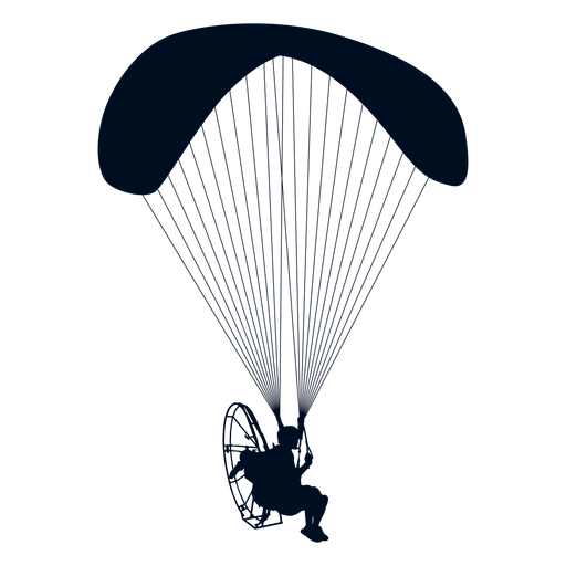 Powered paraglider silhouette